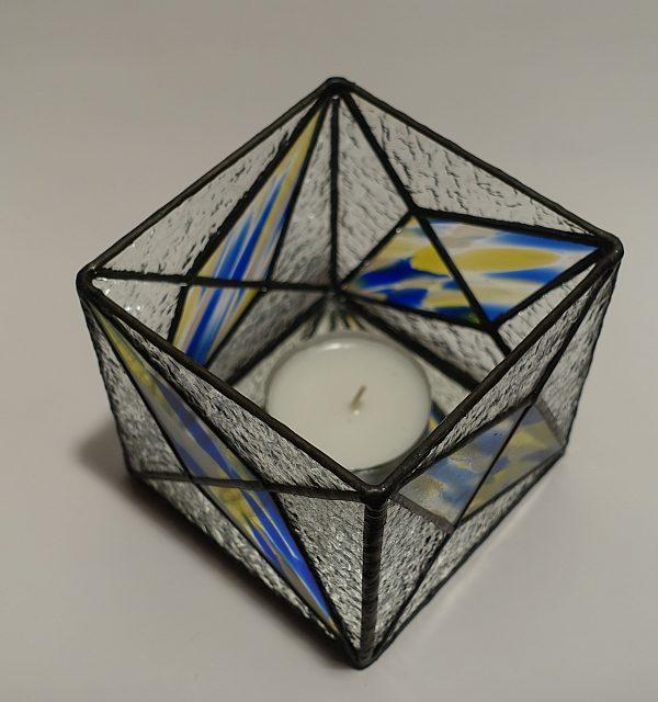 Teelicht blau-gelb-klar Modern-DSC04376-kl