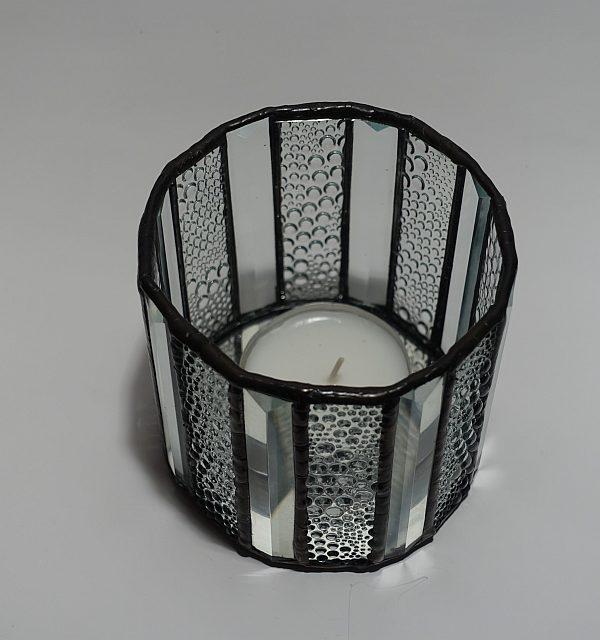 Teelicht klar 16 - eckig Modern-DSC04378-kl