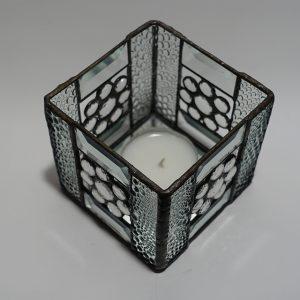 Teelicht klar 4- eckig Modern-DSC04379-kl