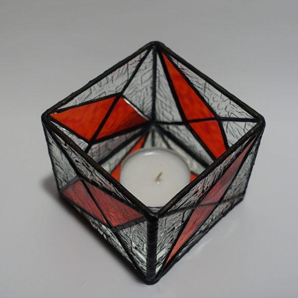 Teelicht rot-klar Modern-DSC04377-kl
