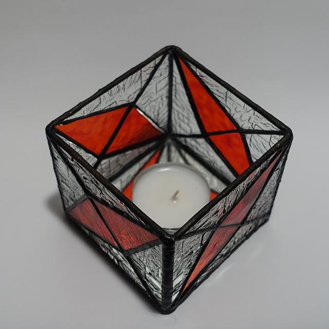 Teelicht rot-klar Modern-1