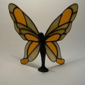 Elfe stehend-Zinn/Bleikörper 3D-transparent-amber-hammered-DSC04406-kl