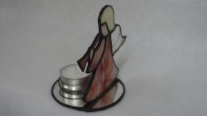 Engel stehend Mit Teelichtsicherung